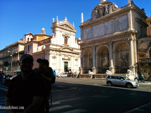 Outside of Santa Maria della Vittoria and Moses Fountain