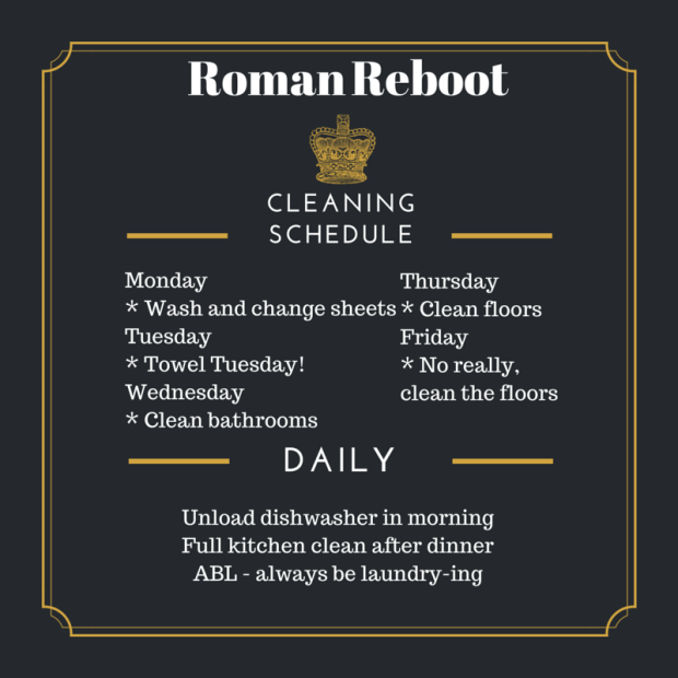Cleaning Schedule-1
