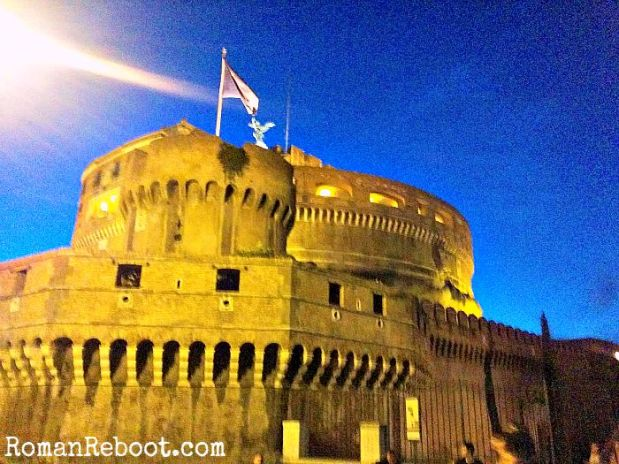 Castel Sant' Angelo.  AT NIGHT.